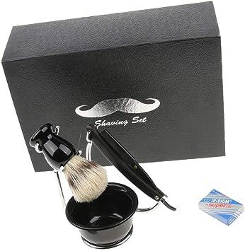 CUKI – 5 en 1 Set barba Masculino Clásico kit maquinilla ...