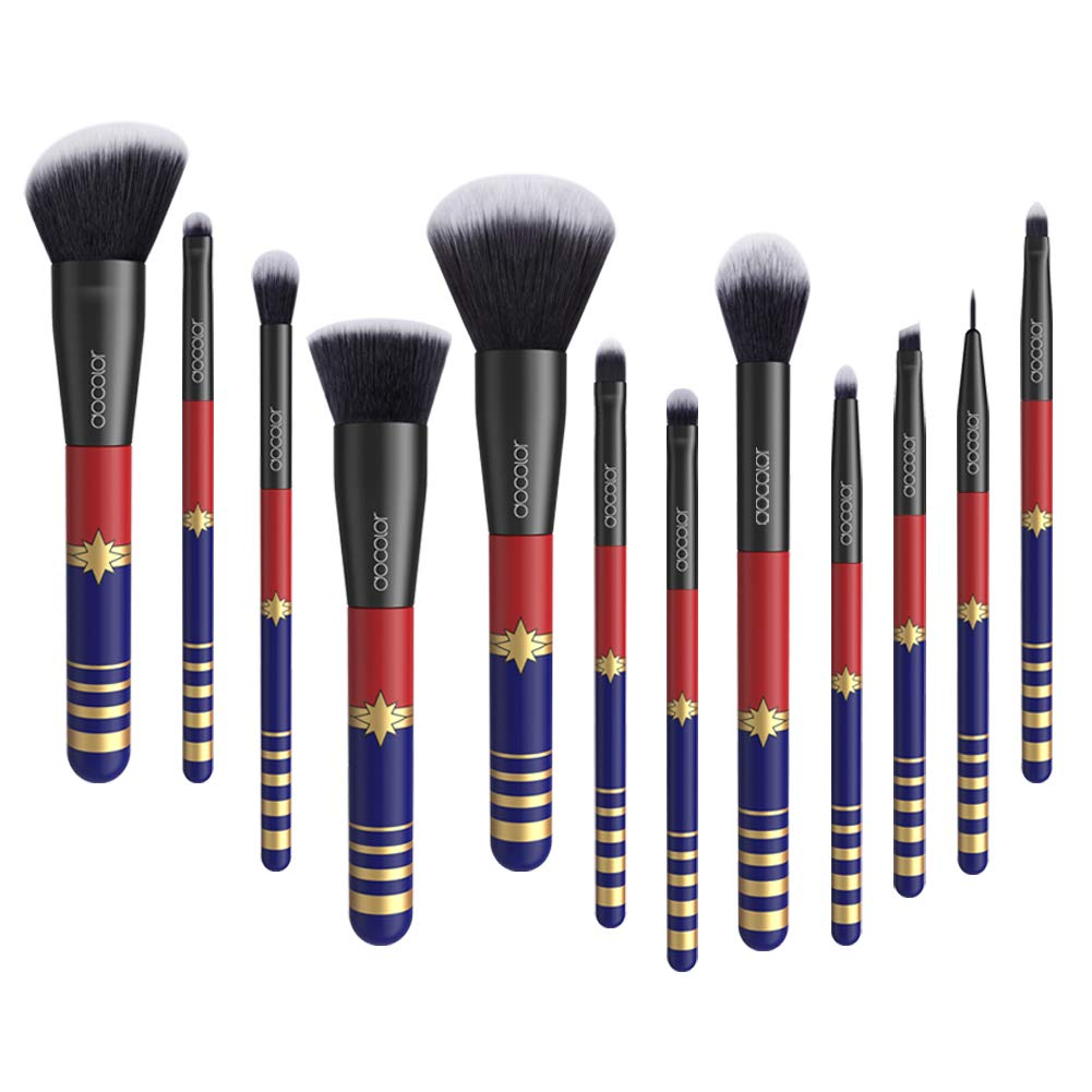 Docolor 12Pcs Makeup Brushes Starlight Goddess Makeup Brushes Set Foundation Blending Eyeshadow Kit
