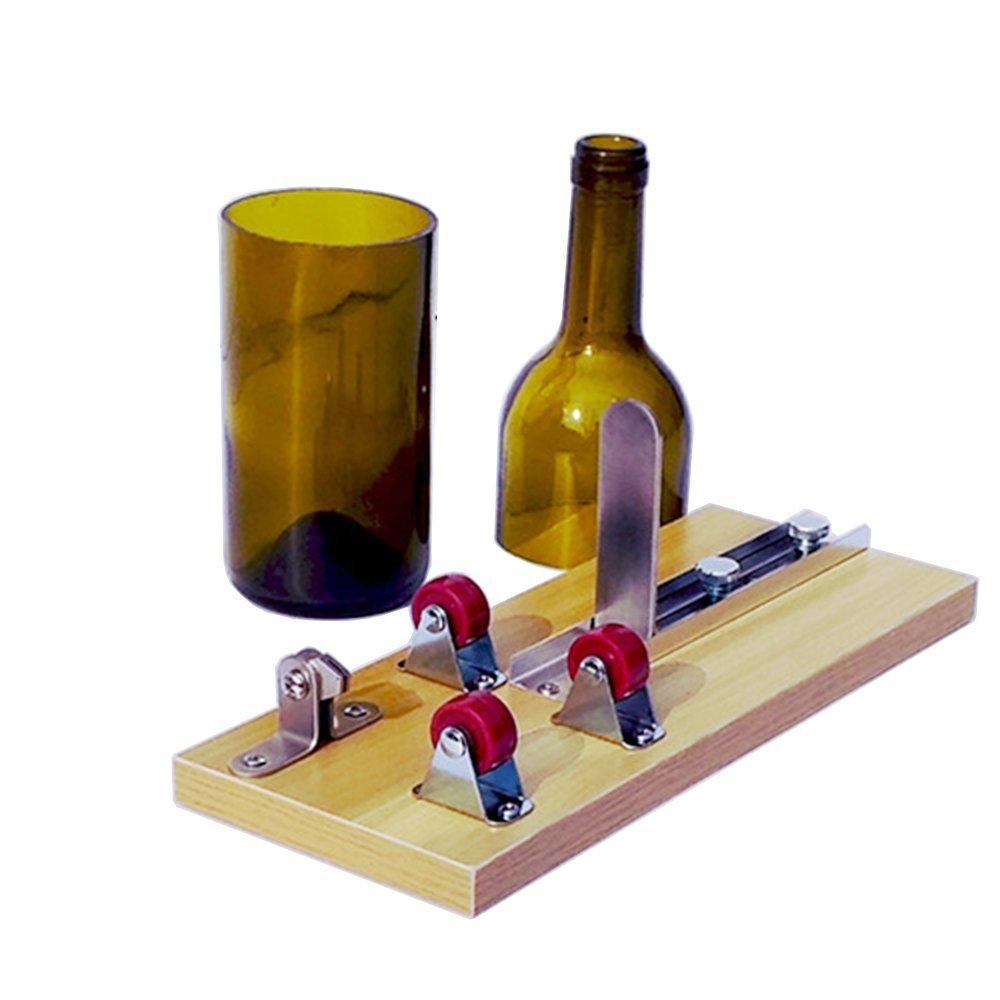 Glass Bottle Cutter, SYYL Upgraded Wine Bear Glass Bottle Cutting Tool Kit for Creative Wine Bottle Decorations, Creative Vase