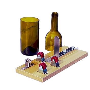 SYYL - Cortador de botellas de cristal, diseño de oso de vino, kit de
