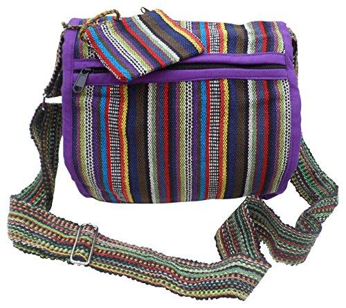 NATURAL FLOW - Bolso al hombro para mujer Multicolor multicolor mediano Purple & Multi