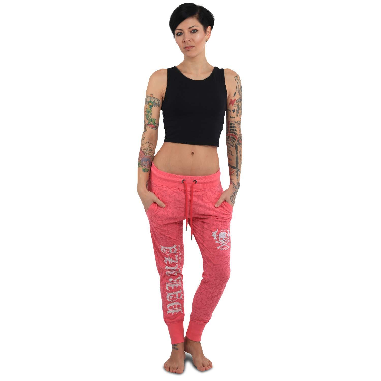 Yakuza Damen Jogginghose Daily Use Skinny Allover Print GJOB 13150 schwarz