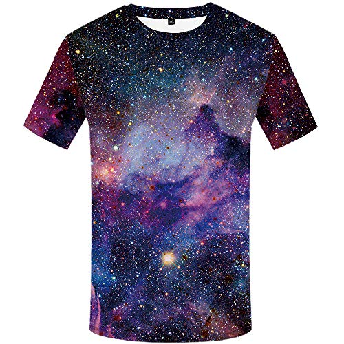 KYKU Galaxy T Shirt Universe T-Shirt Space T Shirts, used for sale  Delivered anywhere in USA