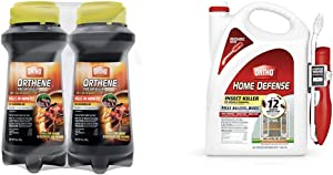 Ortho Orthene Fire Ant Killer1, 12 oz. (2-Pack) & 0220910 Home Defense Insect Killer for Indoor & Perimeter2 with Comfort Wand Bonus Size, 1.1 GAL