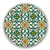 Uneekee Espana Floral Lazy Susan: Large, pure birch wooden Turntable Kitchen Storage