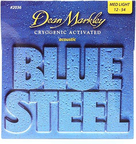 Dean Markley 2036 Blue Steel Acoustic Guitar Strings - .012-.054 Medium Light