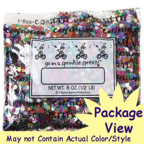 Confetti MultiShape Birthday Curly Q Mix - One Pound Bag (16 oz) Free Priority Mail --- (CCP9516) by Jimmy Jems (Image #2)