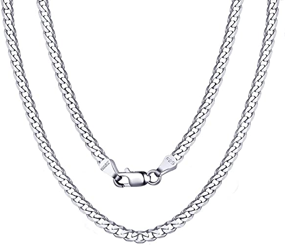 """w//free gift box Sterling Silver FIGARO Chain necklace  3 mm wide  28/"""" long"""