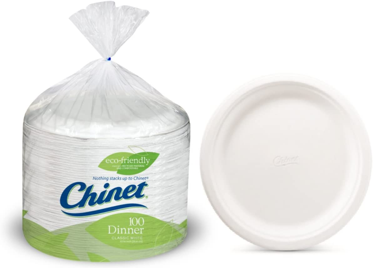 Leak and cut resistant Extra Large 12 5//8 inch X 10 inch 2Pack of 100 Count Manufacturer Chinet Platters Microwavable