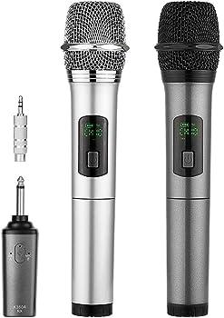 Archeer Dual Wireless Microphone Karaoke System