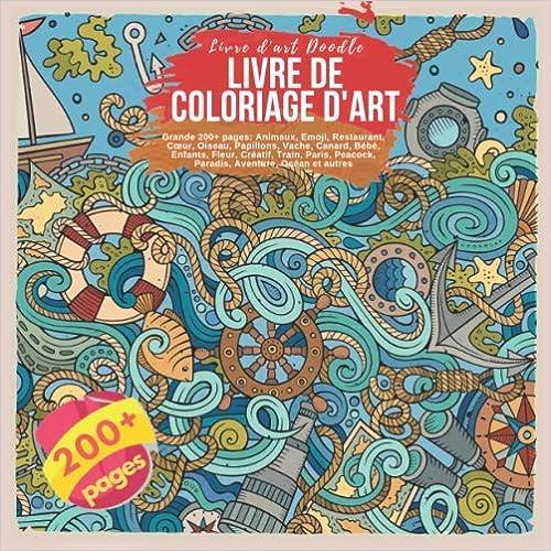 Coloriage Bebe Vache.Livre De Coloriage D Art Grande 200 Pages Animaux Emoji