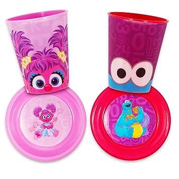 Sesame Street Dinnerware Set Toddler Baby (4 Piece Dining Set -- 2 Cups  sc 1 st  Amazon.com & Amazon.com : Sesame Street Dinnerware Set Toddler Baby (4 Piece ...