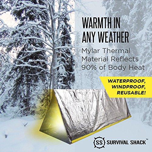 Survival Shack Emergency Survival Shelter Tent 2 Person