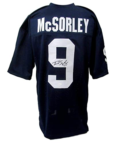 best cheap 1ac55 adc63 Trace McSorley Signed/Autographed Penn State Blue Jersey JSA ...