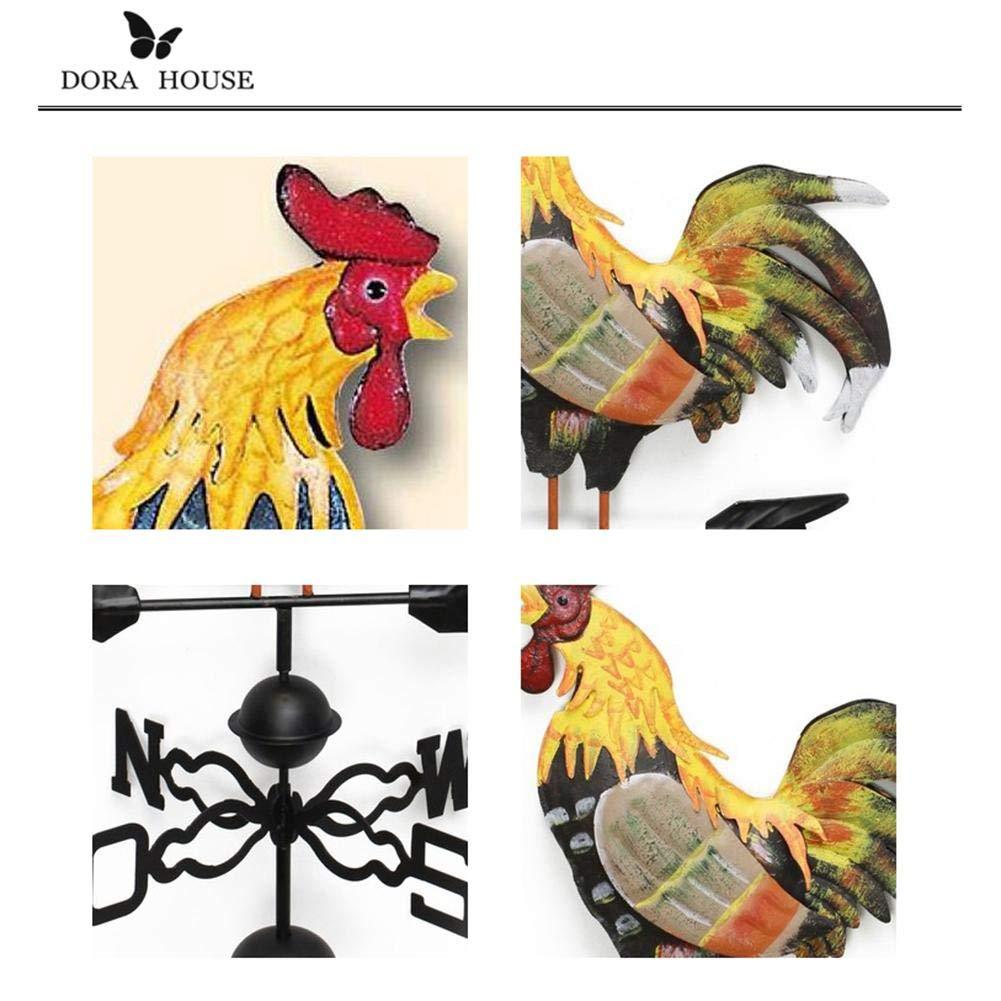 Lianle 51 in Weather Vane with Rooster Ornament Wind Vane Weather Vain for Roof Weather Vanes for Roofs Rooster Weathervane