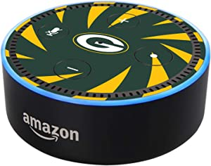 Head Case Designs Officially Licensed NFL Team Colour Stripes Green Bay Packers Glossy Vinyl Sticker Skin Decal Cover Compatible with Amazon Echo Dot (2nd Gen)