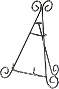 """HUJI Sturdy Iron Display Stand Holder for Home Kitchen Decoration Platters, Pictures, Frames and Books. (1, 12"""")"""