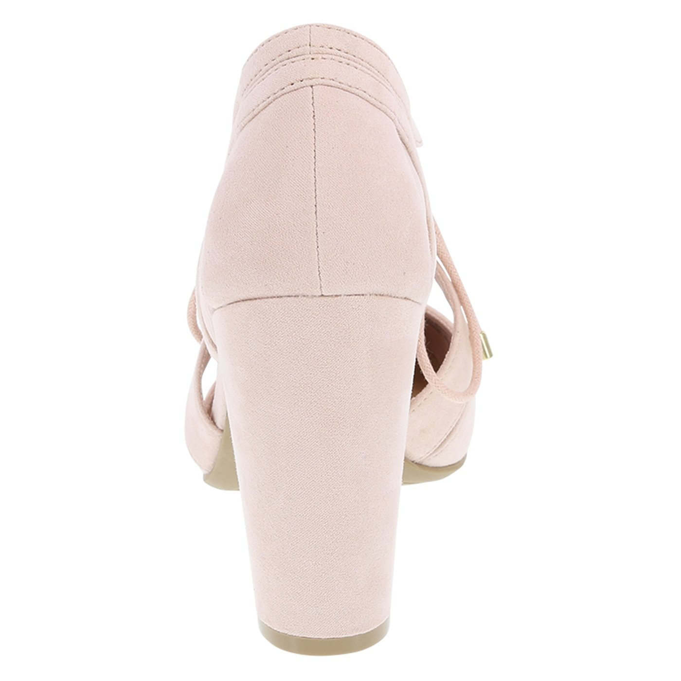 f54476ab9b20 Christian Siriano for Payless Women s Light Pink Suede Kami Ghillie Block  Heel 7.5 Wide  Amazon.com.au  Fashion