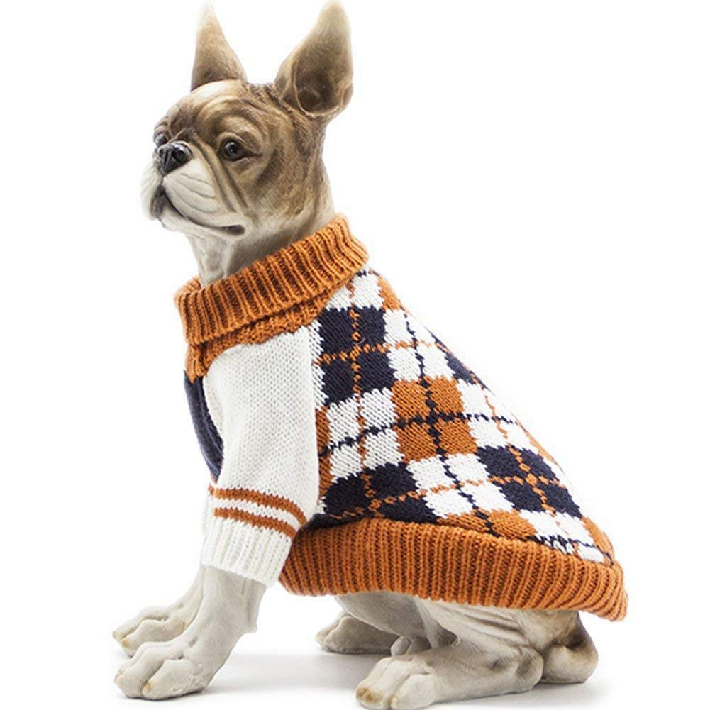 Pet Dog Classic Knitwear Sweater Warm Winter Puppy Pet Coat Soft Sweater Clothing for Small Dogs foreverwen