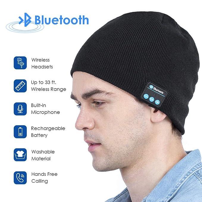 Xikezan Upgraded Unisex Knit Bluetooth Beanie Hat Headphones V42