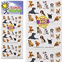 Fun Shapes Dogs Stickers - Party Favors & Craft Supplies - 360 Stickers