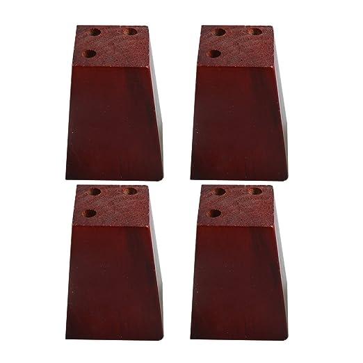 BQLZR - Patas de madera de pino roja trapezoidal para sofá ...