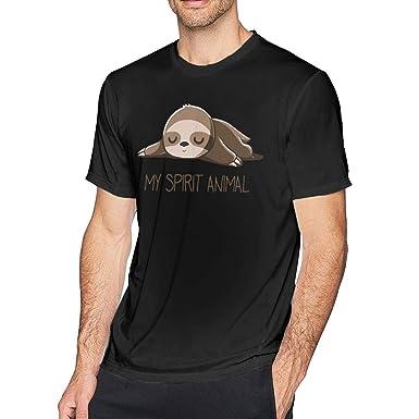 Camiseta de algodón de Manga Corta para Hombre Sloth My Spirit ...