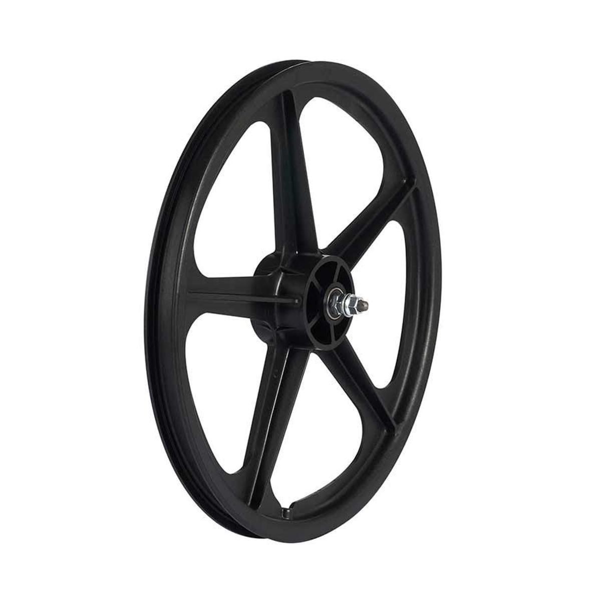 Skyway, Tuff II 20'' 5 Spoke, Wheelset, Black, 20'' / 406, Bolt-on, F: 100, R: 110, Rim, Freewheel