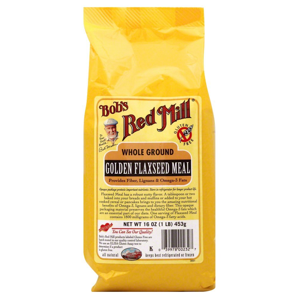 Bobs Red Mill Flaxseed, Golden, Meal 16.0 OZ(Pack of 12)