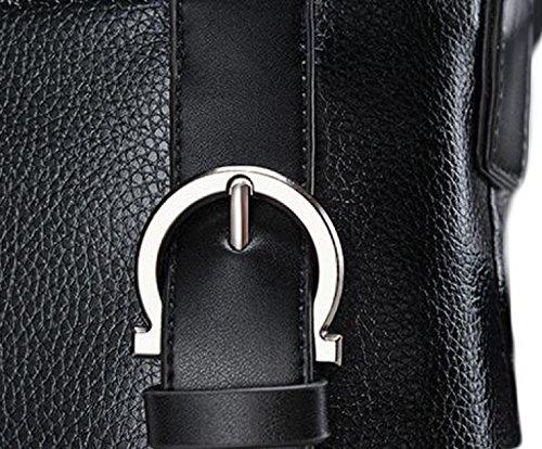 Hombro Mensajero Primera Capa De Piel Bolsa De Bolsa De Negocios Negocio De La Moda Hombres De Bolso De Hombre Black