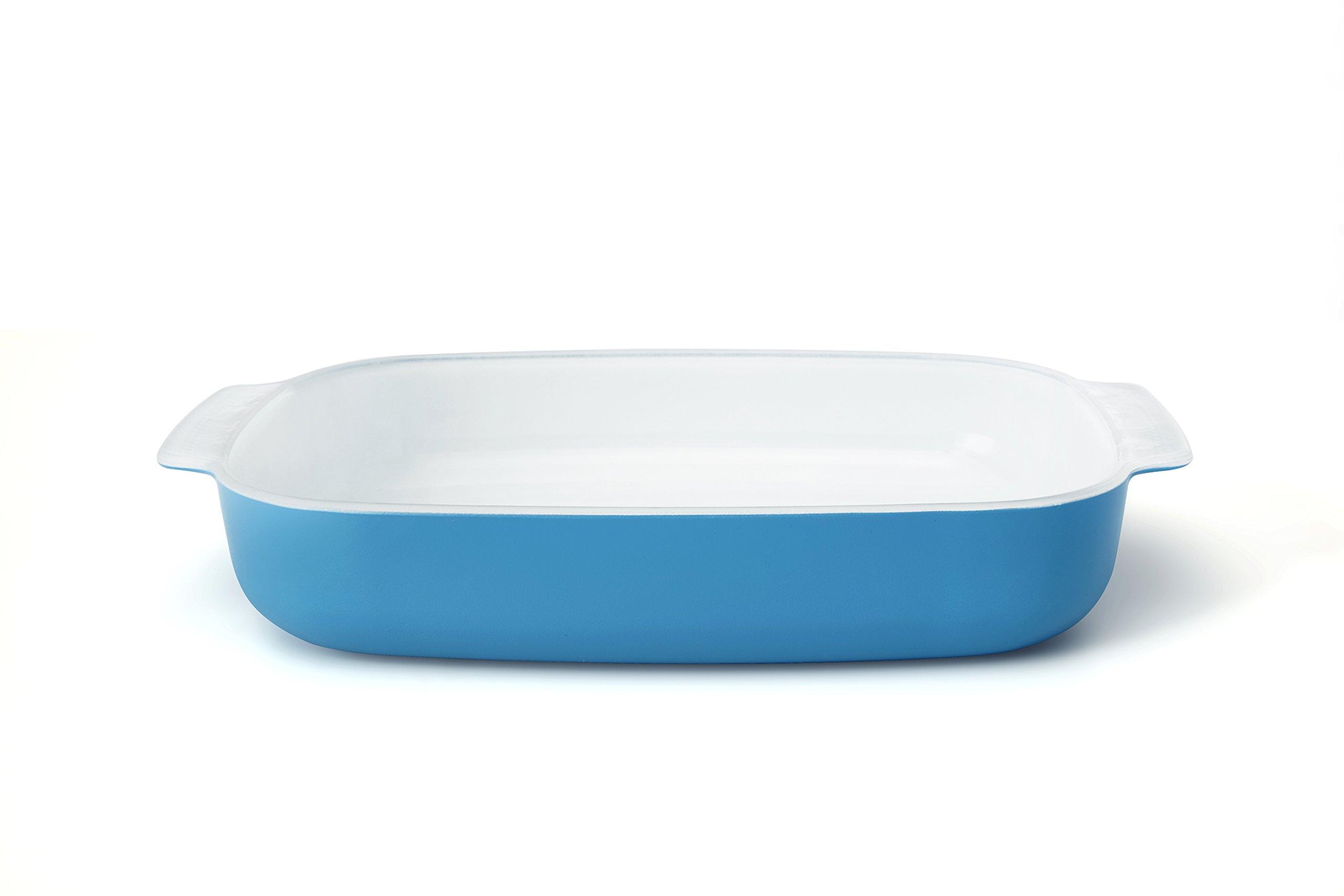 Creo SmartGlass Cookware, 3-quart Baking Dish, Mediterranean Blue