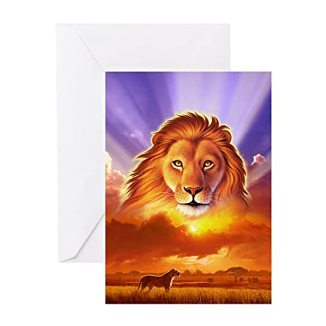 Amazon cafepress lion king greeting card note card cafepress lion king greeting card note card birthday card blank inside bookmarktalkfo Images