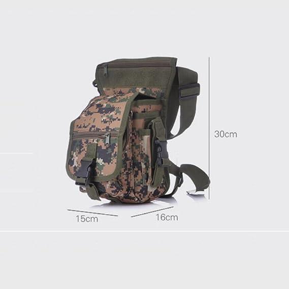 Ran69 Multi-fonction Sac Jambe Tactique Homme Bourse Femme Sac à Bandoulière En Tissu Oxford Ventilateurs Militaires En Plein Air Combo Pack,3