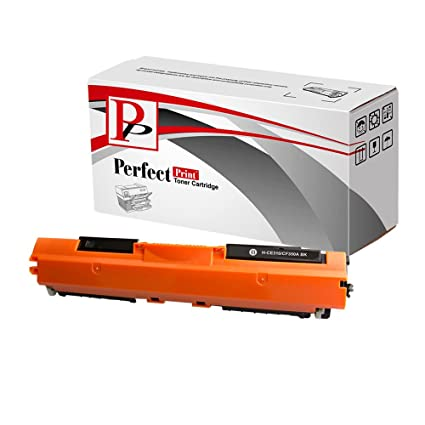 PerfectPrint - Negro Compatible HP CE310A 126A cartuchos de tóner HP Color LaserJet CP1025 Impresora CP1025nw M175a M175nw Pro TopShot 100 Pro 175a ...