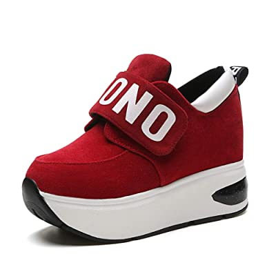 PP FASHION Women's Slip-on GYM AthleticCasual Sports Wedges Platform Sneakers Hidden Heel Shake Shoes | Fashion Sneakers