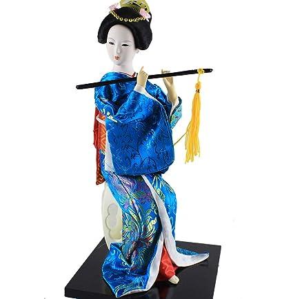 Amazon.com: Japonés Geisha Kimono Doll Furnishings ...