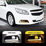 4Speed-Car Light Assembly - Car Flashing 2Pcs LED Daytime Running Lights DRL Fog Lamp for Chevrolet chevy Malibu 2011…