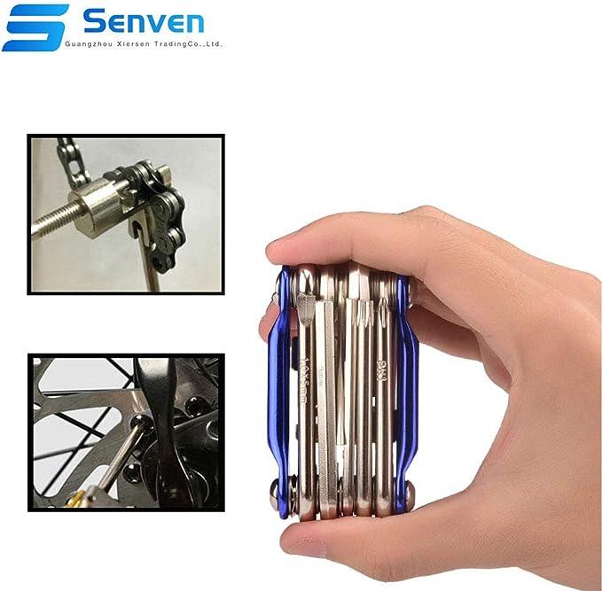 Senven® 11 en 1 Multifunción Bicicleta Reparacion Herramientas ...