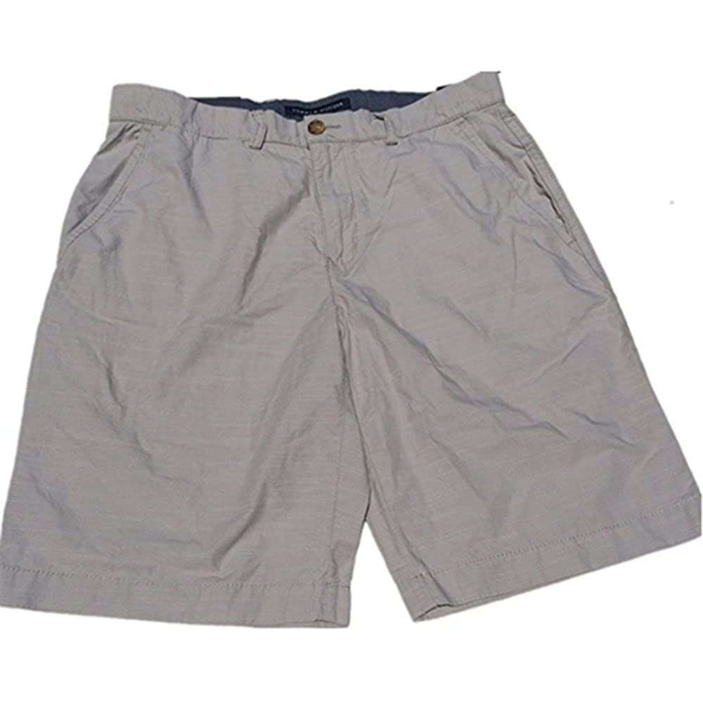 Tommy Hilfiger Mens Flat Front Shorts(Drizzle,36W)