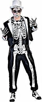 Disfraz esqueleto chic hombre Halloween - M / L: Amazon.es ...