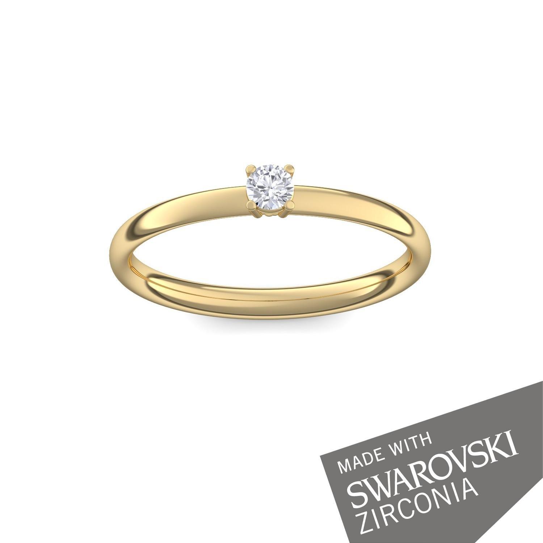 Propuesta Anillo Oro Vermeil + caja. Diamantes de Zirconia como por Amoonic hecho con SWAROVSKI ZIRCONIA compromiso presente novedad moderno anillo mejor ...