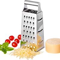BSTOB Kitchen Graters, Stainless Steel Box Handheld Grater Multipurpose 4 Sided Grater for Lemon, Chocolate, Cheese…