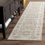 Safavieh Patina Collection PTN322F Taupe and Ivory Cotton Runner (2'2'' x 12')