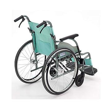 Amazon.com: YE ZI silla de ruedas plegable, ultraligera ...