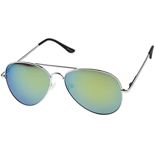 dedb165916be Amazon.com  Classic REVO Full Mirrored Aviator Sunglasses (Single ...