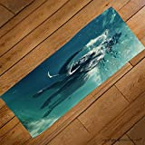 VROSELV Custom Towel Soft and Comfortable Beach Towel-swimming elephant underwater african elephant in ocean with mirrors and ripp Design Hand Towel Bath Towels For Home Outdoor Travel Use 27.6''x13.8''