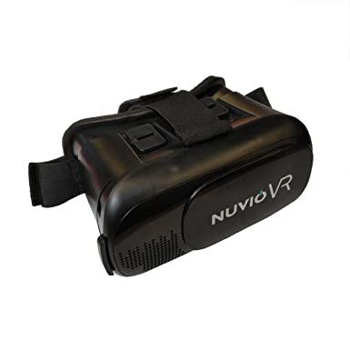 7e756c97c Nuvio 3D VR Headset Glasses Virtual Reality Boxes with Adjustable Strap and  Lens for 3D Movies and Games - 4.0-6.5