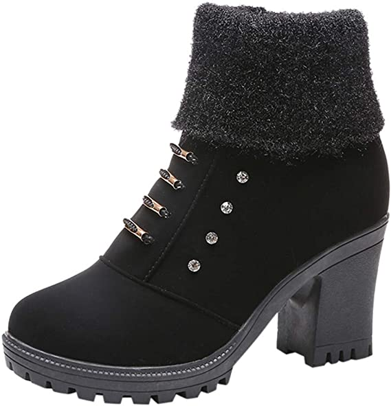 Femmes Fille Bottes,Boot Western Chaussure Randonnee