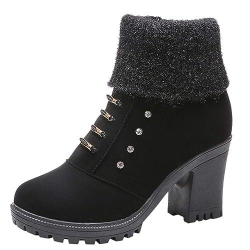 4d0cc961b071d Amazon.com | Vintage Women's Ankle Bootie Square High Heel Crystal ...
