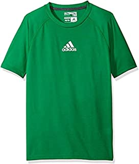 19bc7cf62b8 adidas Youth Boys  Ultimate Short-Sleeved Performance T-Shirt (Youth Large  14